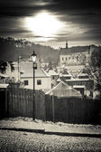 Zonsondergang over kazimierz dolny — Stockfoto