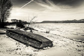 Vistula river in winter — Stock Photo