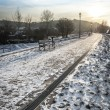 Stock Photo: Walkawy in winter time