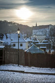 Sundown over Renaissance town Kazimierz Dolny — Stock Photo