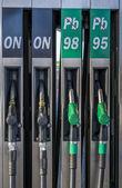 Europäischen Stil Benzin Pumpen — Stockfoto