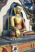 猴庙寺坐佛雕像 — 图库照片