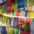 Tibetan prayer flag, Nepal — Stock Photo