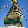 Buddha stupa in Kathmandu — Stock Photo