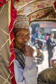 Portrait of rickshaw old man — Stock Photo