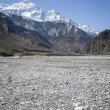 Empty river in Himalaya mountains — Foto de Stock