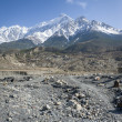 Rocky landscape in Himalaya - Stock Photo