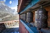 Prayer wheels in Himalaya — Stock Photo