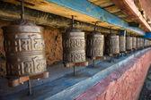 Prayer wheels in Nepal's Monastery. — Stock Photo