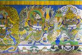 Tibetan painting on monestery ceiling — Stock Photo