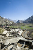Small village in Himalaya mountains — Stock Photo
