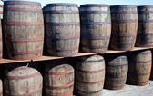 Whisky barrels — Stock Photo
