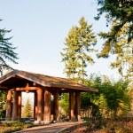 Washington Park Arboretum structure — Stock Photo