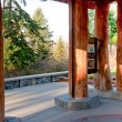 Washington Park Arboretum structure — Stock Photo