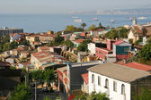 Aerial view on Valparaiso, Chile — Stock Photo