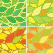 Seamless pattern with leafs, autumn and summer background - Stock Vector