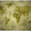 Stock Photo: Aged vintage world map texture and background