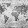 Aged vintage world map texture and background — Stock Photo