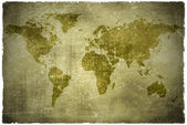 Aged vintage world map texture and background — Foto de Stock