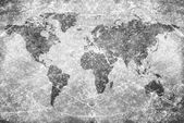 Aged vintage world map texture and background — Stockfoto