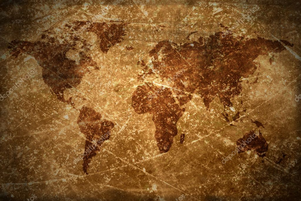 Aged  vintage world map texture and background — Stock Photo #10091818