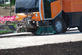 Street sweeper — Stockfoto