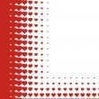 Valentines heart halftone background in vector — Stock Vector