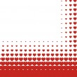 Valentines heart halftone background in vector — Imagens vectoriais em stock