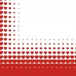 Stock Vector: Valentines heart halftone background in vector