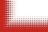 Valentines heart halftone background in vector — Stock Vector