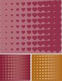 バレンタインの心ハーフトーン ベクトルの背景 — ストックベクタ