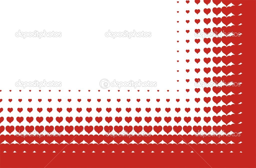 Valentines heart halftone background in vector — Stock Vector #8675704