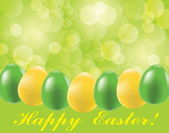 Easter background with eggs and blurry light — Stock Vector