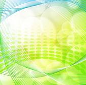 Yeşil bahar arka plan bulanık ışık ile — Stok Vektör