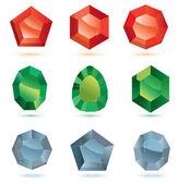 Precious stones — Stock Vector