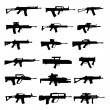 Modern assault rifles - Stock Vector