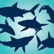 Stock Vector: Vector sharks