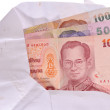 Thai Banknotes in an envelope — Stock Photo