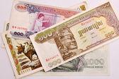 Cambodia banknotes — Stock Photo