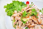 Spicy pork salad , Thai style food — Stock Photo
