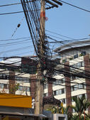 Wire communications in Thailand — Stock Photo