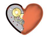 Mechanical heart — Stock Photo