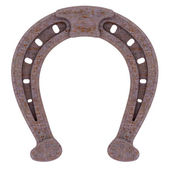 Decorative rusty horseshoe — Stock Photo