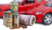 Cars and money — Stock Photo