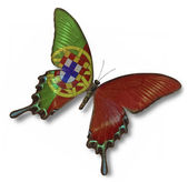 Portugal flag on butterfly — Stock Photo