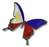 Bandeira de filipinas na borboleta — Foto Stock