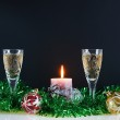 Christmas still life against the black background — Stock Photo #8160643