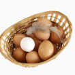 Eggs lie in a basket — Stock Photo