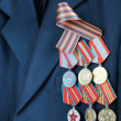 The Russian military awards at a veteran suit — Stock Photo #8191558