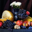 Classical interior still life with fresh fruits — Stock Photo